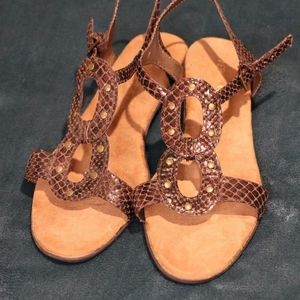 Aerosoles Women's Size 10.5W Sandals Euc  Smoke fr
